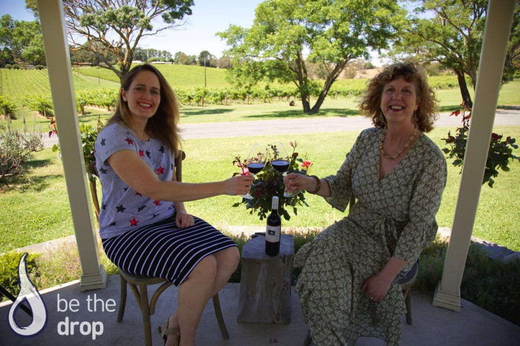 Cheers! Amelia & Kathy At Paracombe Wines