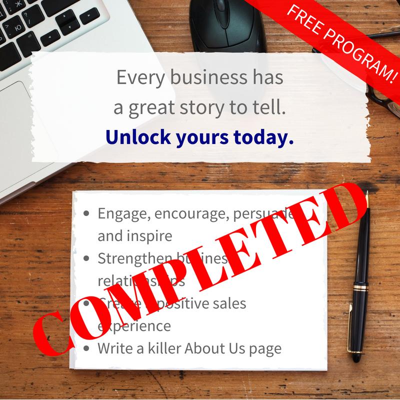 Storytelling For Business Program COMPLETE! [Training]