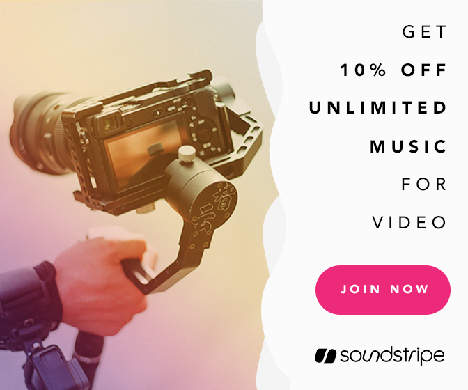 Enter BETHEDROP in checkout for 10% off unlimited music for your next project