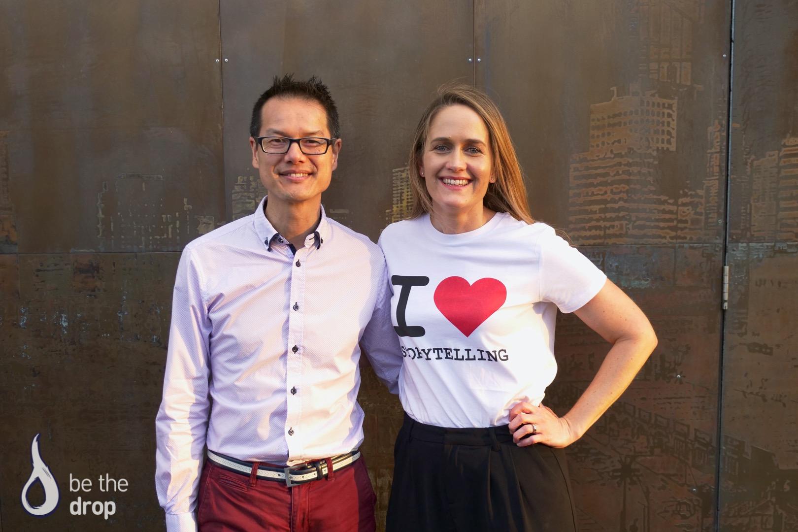 Jon Yeo and Amelia Veale