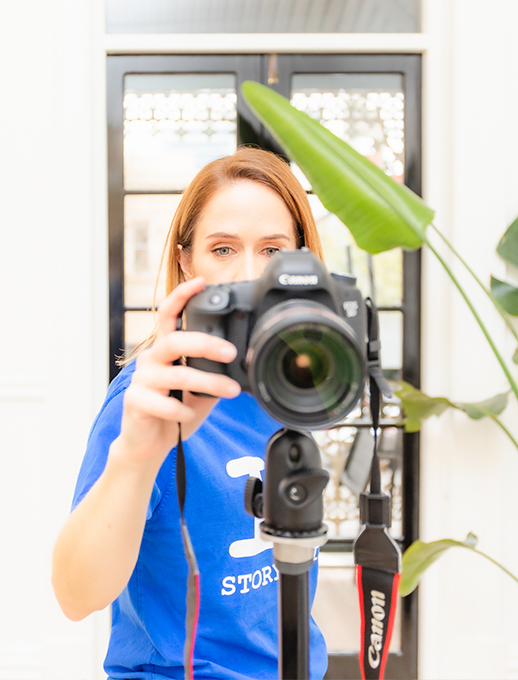 Amelia Veale Using A Camera For Video Production In Adelaide